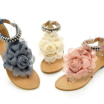 Melissa like jelly camellia women sandals flip-flops summer shoes flat cool beach slippers  = 4776761796