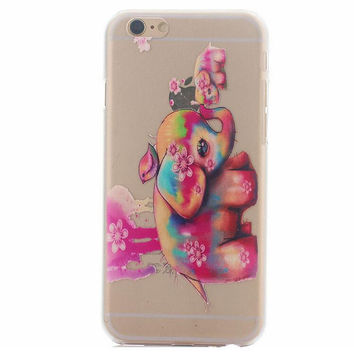 Cute Elephant Case Ultrathin Cover for iPhone 5se 5s 6s Plus Gift 41