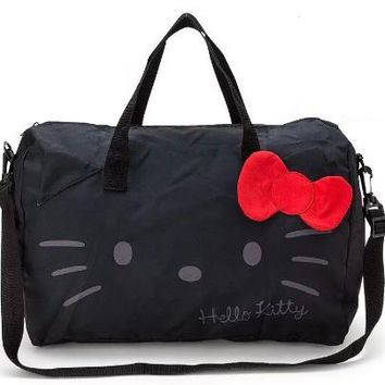 Kawaii Cute Cartoon Hello Kitty  My Melody Foldable Folding Trolley Travel Bag Women Girls Tote Duffle Bags Hand Luggage yey-675