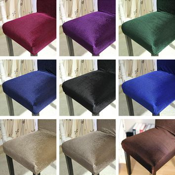 9 color Jacquard Polyester Chair Cover Spandex Wedding seat Chair Covers Dining banquet hotel home decoration housse de chaise