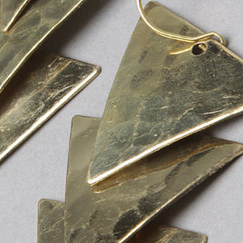 The Hammered Triangle Earring in Gold : *Accessories Boutique : Karmaloop.com - Global Concrete Culture