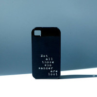 Black + Inspirational Quote + Shakespeare + Typewriter Font + Phone Cover + Unisex Phone Case