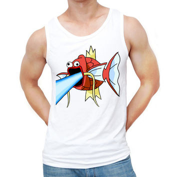 2017 New Arrivals Men Summer Tank Tops Fashion Feels Magikarp Man Design Men's Vest Hipster Pepe Fish Singlets