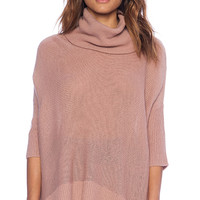 BB Dakota Collective Starla Cowl Neck Sweater in Pink