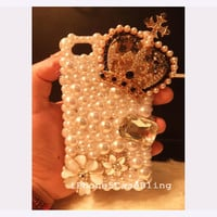 iPhone 4 Case, iPhone 4s Case, iPhone 5 Case, Bling iPhone 5 case, Bling iphone 4 case,  Crown iphone 4 case, iphone 4 pearl case crown