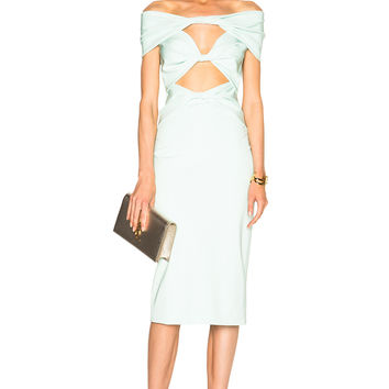 Cushnie et Ochs Light Power Viscose Dress in Mint | FWRD
