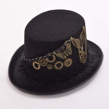 Vintage Steampunk Top Hat