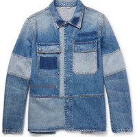 Valentino - Slim-Fit Patchwork Distressed Denim Jacket
