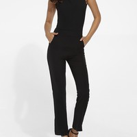 Casual Pockets Dacron Plain Jumpsuits