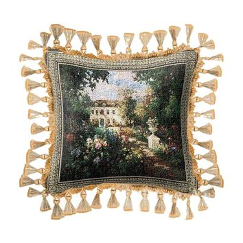 Fine Art Tapestries Home Decorative Aix En Provence Cotton Pillow