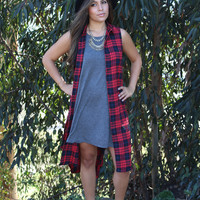 Plaid Red Flannel Dress/Top