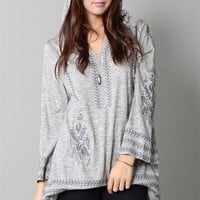 Embroidered Tunic Hoodie