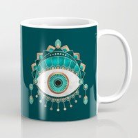 Teal Eye Mug by Elisabeth Fredriksson