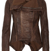 Rick Owens|Paneled leather jacket|NET-A-PORTER.COM