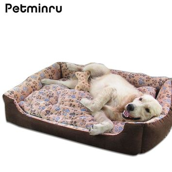 Petminru Large Breed Dog House Bed Sofas Mat Pet Beds House for Large Dogs Big Blanket Cushion Basket Pet Supplies
