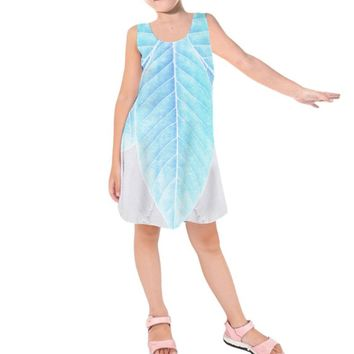 Kid's Periwinkle Tinkerbell Inspired Sleeveless Dress