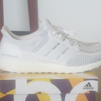 adidas Ultra Boost LTD White Relective, Size 13, Worn 1X