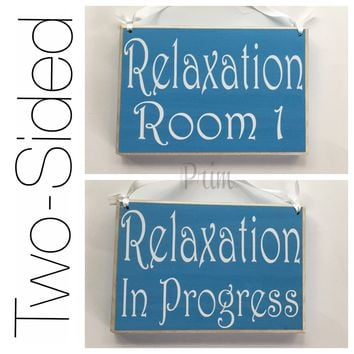 8x6 Two Sided Room number Relaxation Wood Sign