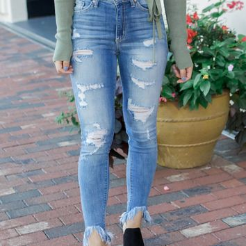 Daisy Distressed Denim Jeans