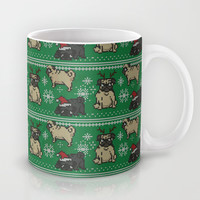 CHRISTMAS PUG Mug by Huebucket