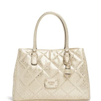 Ophelia Metallic Girlfriend Satchel | GUESS.com