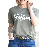 Blessed Tee - Olive