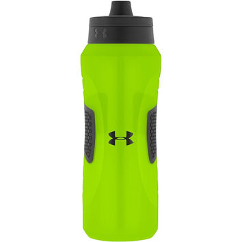 Under Armour Undeniable 32 Ounce Squeeze Bottle with Quick Shot Lid Hyper Green