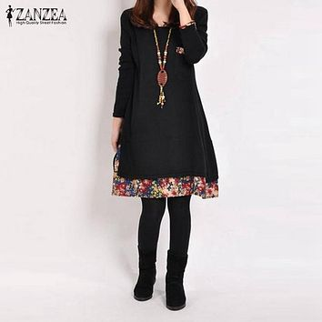 Women Casual Vintage Dress