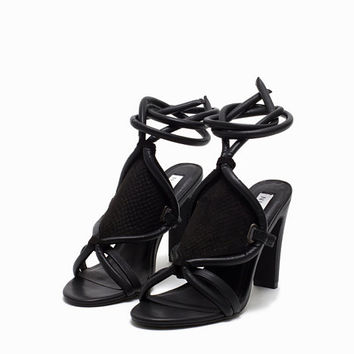 Padded Wrap Sandal, NLY Shoes