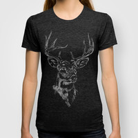 Linear Deer T-shirt by Wickerstorm