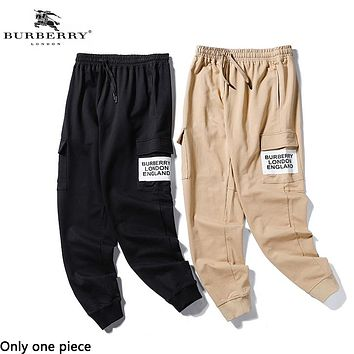 Burberry hot seller of stylish casual printed overalls for couples