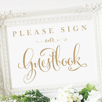Guestbook Please Sign A Heart Sign 5 X From CharmingEndeavours