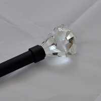 Urbanest Pierre Cut Crystal Drapery Curtain Rod 3/4""