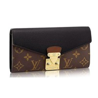 Louis Vuitton Monogram Canvas Pallas Wallet M58415 Noir Made in France