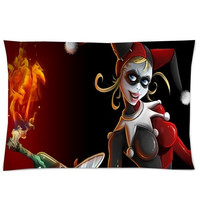 Bedding Set Living Room Pillow Cover,Comics Harley Quinn Batman Joker Pillowcase 50%Cotton,50%Polyester Pillow Sham Cushion Cover Size:20x30 Inches(2sides Printed) = 1927792708