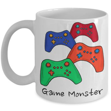 Game Monster Coffee Mug ~ Gift for Video Gamer