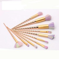 10 pcs Unicorn Makeup Brush Set