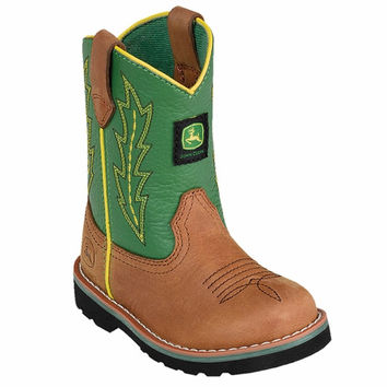John Deere Toddler Johnny Popper Boots Green