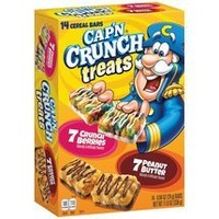 Quaker, Cap'n Crunch, Treats Cereal Bars, Variety Pack, 0.84 oz, 14 Count, 11.8oz Box (Pack of 3)