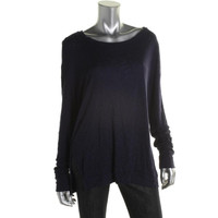 Three Dots Womens Knit Heathered Pullover Top