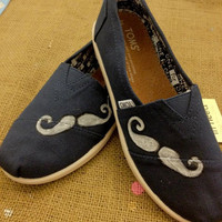 "SALE- MOVEMBER ""Mustache""  Toms Shoes"