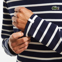 Lacoste Striped Ottoman Long Sleeve Tee   Urban Outfitters
