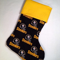 Christmas clearance Diehard NFL Steelers Christmas stocking for the true Steelers fan