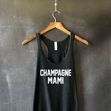Champagne Mami Tank Top in Black