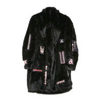 Patchwork Faux Fur Coat / Shop Super Street
