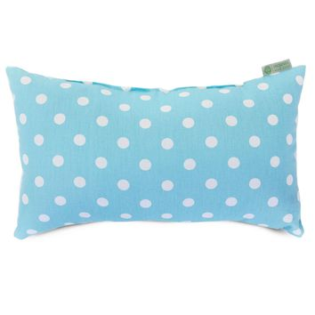 Aquamarine Small Polka Dot Small Pillow