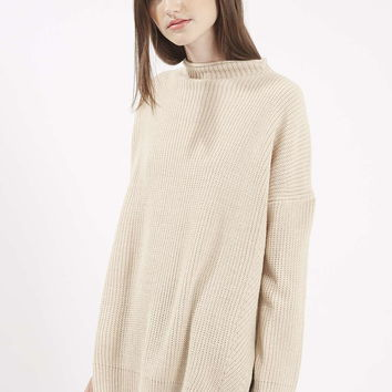 Ribbed Side Split Jumper - Topshop