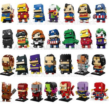 Batman Dark Knight gift Christmas Single Sale Figures Compatible With Legoing Marvel Batman Spiderman Superman Joker Iron Man Super Heroes Building Blocks Toys AT_71_6
