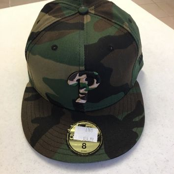 PHILADELPHIA PHILLIES JUNGLE CAMO GREEN 5950 NEW ERA FLAT BRIM FITTED HAT