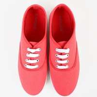Bamboo Buddy-01 Lace Up Canvas Slip On Sneakers   MakeMeChic.com